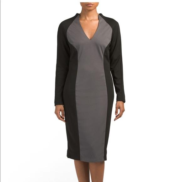 c1f88c72 Alexia Admor Dresses | Color Block Sheath Midi Dress By Nwt | Poshmark